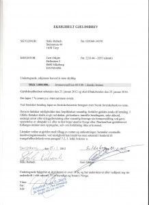 Gældsbrev fra Ståle Rubach