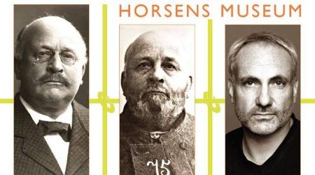 Plakat fra Horsens Museum med Alberti og Kim Bodnia